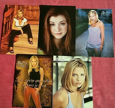 """""""BUFFY THE VAMPIRE SLAYER"""" Collectable Postcards... Brand New...Unused..."""