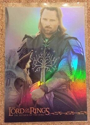 Lord of the Rings Return of the King - Foil Prismatic card 1/10 - Aragorn