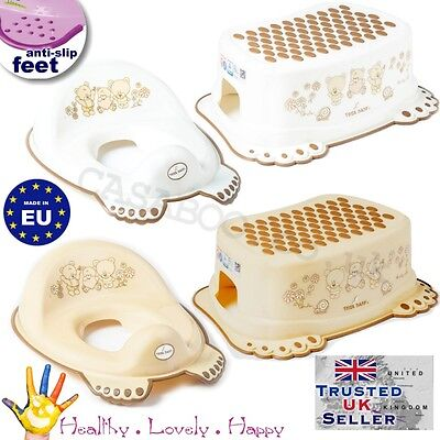TEGA BABY Children Toddler Toilet Training Seat & Step Stool TEDDIES new line