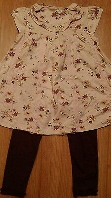 Ex Next Girls Butterfly Top & Leggings Set Age  2 - 3 Years NEW