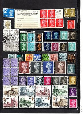 Great Britain mixed definitives from old album ,stamps as per scan(2077)