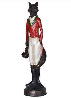 Standing Fox with bugle ornament riding hunting horse lover