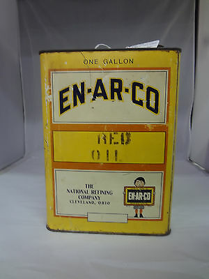 Vintage Advertising One Gallon En-Ar-Co Oil Can  456-Y