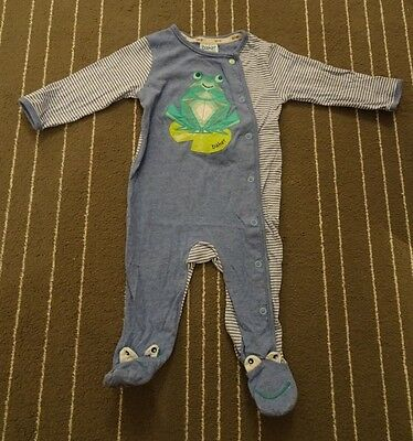 Ted Baker baby boys frog sleepsuit - size 3-6 months