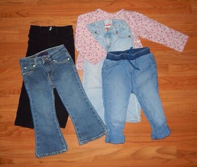 baby toddler girl clothes size 2t fall winter lot babygap gap levi jeans outfit