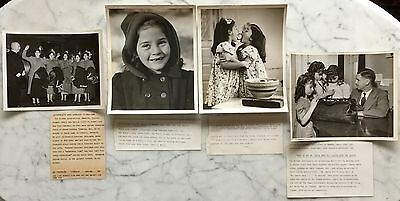 Lot of 4 Antique/Vintage 1940 Press Photo by King Features Dionne quintuplets