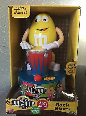 M&M's Rock Star YELLOW with Drum, Plays Music & Jams, Motion and Sound NEW RARE
