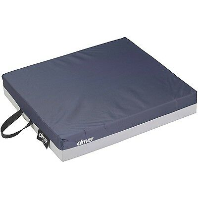 """Drive Medical Deluxe Skin Protection Gel """"E"""" 3"""" Wheelchair Seat Cushion 18 X 16"""