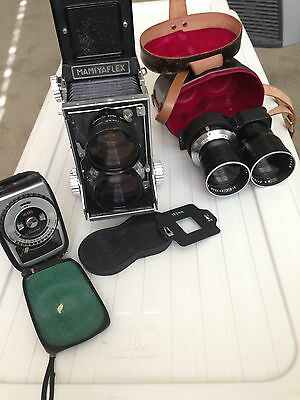 Vintage Mamiyaflex C2 Camera With Accessories