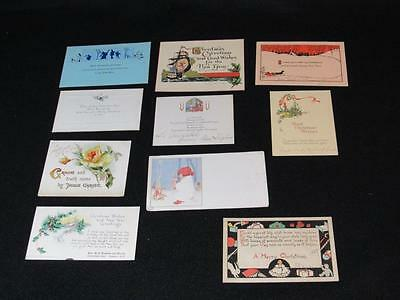 Antique Beautiful Flat Christmas & New Year's Cards (10)
