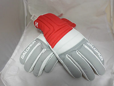 Salomon Ski Gloves Red/White Size M Box3415