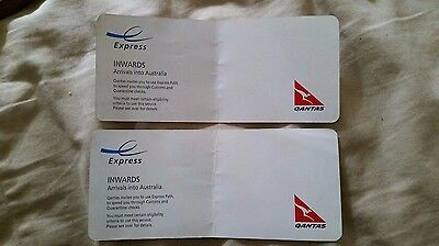 Qantas International Arrival Express Card Passes X 2 Any Airline