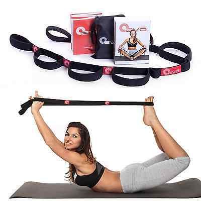 Elastic Stretching Strap with 10 Flexible Loops + eBook & 35 Online Stretch Out