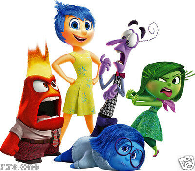 """Disney Pixar's """"INSIDE OUT"""" Movie Characters Group Promo Shot - WindoCling Decal"""