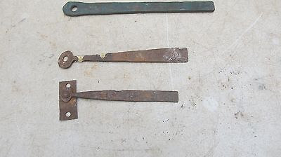 3 Vintage wrought Iron Drop Bar ( only) for Thumb Latches