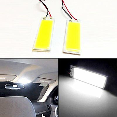 2pcs Xenon T10 White 36 COB LED Dome Map Light Car Interior Panel Lamp Bulb 12V
