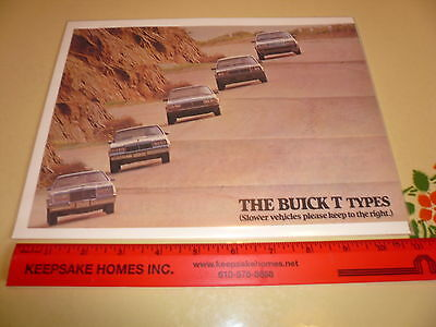 Buick T Types - Ad/Advertisement - Vintage