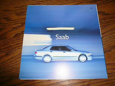 2001 SAAB Sales Brochure Request Booklet with Post Card