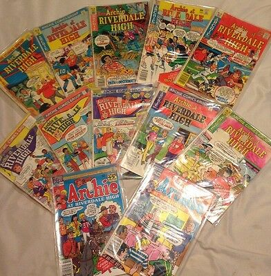 Lot Of 12 Archie At Riverdale High Comics Bronze 1977-1988 46 55 58 69 72 + More