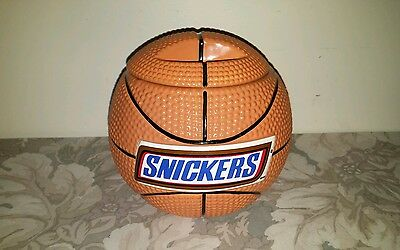 Snickers Ceramic Basketball Candy/ Cookie Jar/ Rare !!!