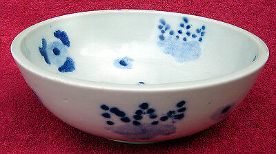 Antique Chinese Blue & White Bowl Unusual