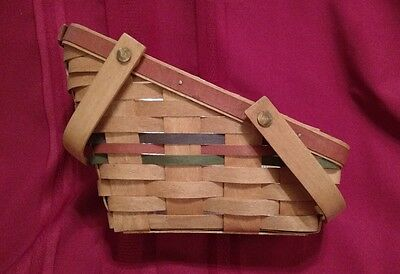 Longaberger 1990 Shades of Autumn Small Vegetable Basket W/Protector