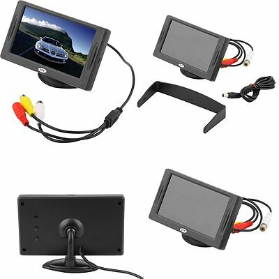 """4.3"""" TFT LCD Car Monitor Reverse Rearview Color Camera DVD VCR CCTV LC"""