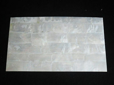 White MOP shell inlay sheet 240 x 140 x 0.15 mm for luthier