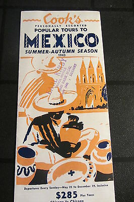 1943 Summer-Autumn Season Cook's Popular Tours to Mexico Brochure