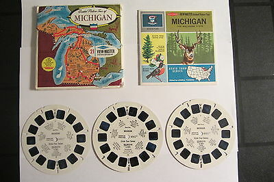 Viewmaster Set A580 - MICHIGAN COMPLETE State Tour Series