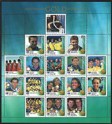3 Rare Mini Sheets Come Only With Aust. Post Year Books, Senators, Olympics Gold