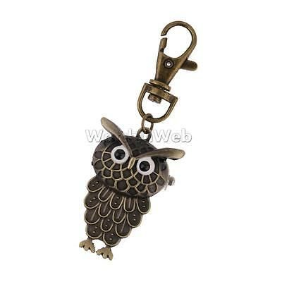 Stylish Bronze Owl-shape Pocket Key Ring Watch Jewelry
