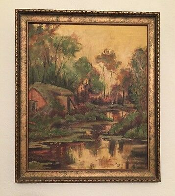 OIL PAINTING ON BOARD 1926. Landscape. ARTIST SIGNED Ina Bell