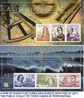 Six A99 Navigator Australian Mini Pairs Imperf, Perforated A99, Ordinary, Fdc...
