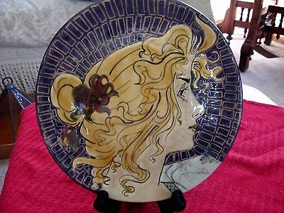 """Gorgeous Ceramic Art Pottery Plate-""""Timeless Woman"""" by Cheryl Hurley"""