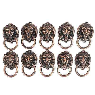StarSide 10pcs Lion Head Pull Handle Knob for Dresser Drawer Cabinet Door Ring