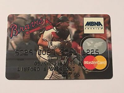 Atlanta Braves expired Master Card credit card for collectors G7