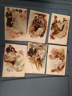 Vtg 1900S Antique Wedding Bridal Shower Bride Groom Postcards Set