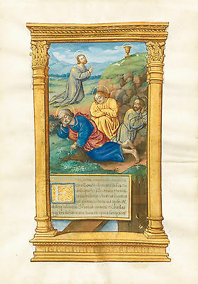 """Agony in the Garden,"" Miniature Cutting from a Book of Hours, France c. 1510-20"