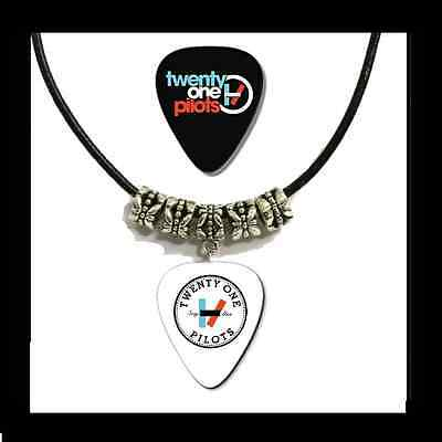 TWENTY ONE PILOTS Guitar Pick Necklace *Leather Style* + Bonus FREE Pick.