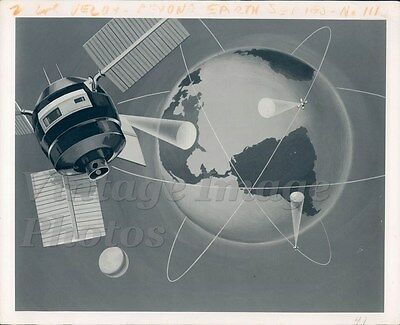 1930s Beyond Earth Continents North South America Space Ship Sky Press Photo