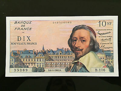 BILLET 10 N.Francs Richelieu Type 1959 - 6.4.1961 - SPL