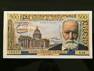 BILLET 500 Francs Victor Hugo Type 1953 - 2.9.1954 - TTB