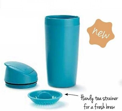Tupperware Commuter / Travel Mug Blue Rrp $29