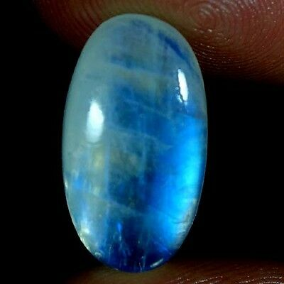 11.55Cts RAREST 100% NATURAL CHATOYANT RAINBOW MOONSTONE OVAL CABOCHON GEMSTONES