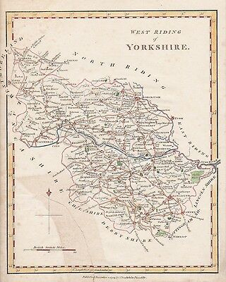 An antique map 'West Riding of Yorkshire' by J. Stockdale c1794
