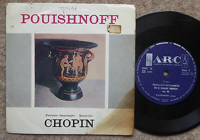 Pouishnoff Chopin Fantaisie/impromptu/baracolle Arc10 1962 Good Condition