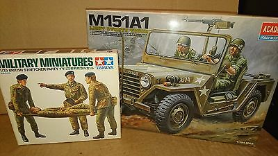 lot maquette 1/35 TAMIYA JEEP US + personnages