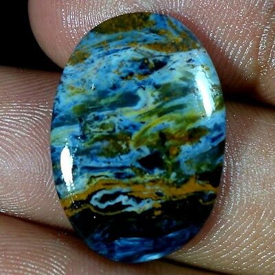 13.50Cts. 100% NATURAL CHATOYANT PIETERSITE OVAL CABOCHON FINE QUALITY GEMSTONES