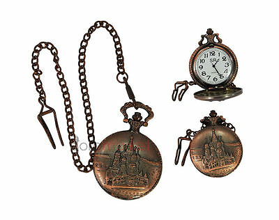 Handmade Vintage Replica Mahal Designed Pocket Watch with long chain